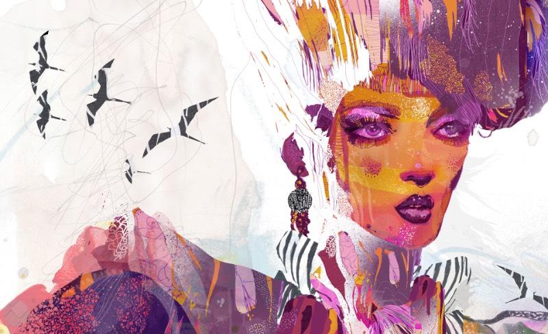 As ilustrações de Giulio Iurissevich tem um visual atraente, forte e, algumas vezes, quase dark. Acho que eu descreveria seu portfólio dessa forma mas suas ilustrações são mais complexas do que minhas palavras podem explicar. Desde 1998, esse ilustrador anda trabalhando com a forma do corpo humano em seus retratos distintos. Cada ilustração que ele cria vem com uma rica sessão de padrões visuais, pinceladas e manchas de tinta que dão uma sensação quase industrial para seu trabalho.
