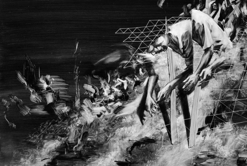Tom French é um artista britânico famoso pelo poder visual e pela estética monocromática de suas pinturas que parecem tentar se conectar com nosso subconsciente. Digo isso porque as pinturas desse artista parecem querer fazer um discurso visual com o Dualismo, a corrente filosófica que afirma que a mente e o cérebro não são a mesma coisa. Essa filosofia enxerga o cérebro como o local do intelecto e a mente como o local da consciência.