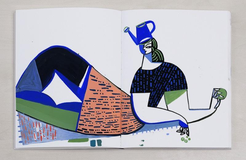Quando você observa as ilustrações de Gosia Herba, é fácil pensar na arte moderna do século que passou. De acordo com a artista, esse seria um tributo a seus artistas favoritos, de Picasso a Matisse. Mas suas ilustrações são mais do que isso, seu trabalho é especial de um jeito que resolvi fazer um artigo apenas sobre seus cadernos de rascunho.