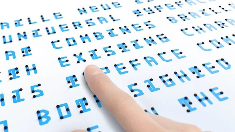 Braille Neue é uma nova fonte criada pelo japonês Kosuke Takahashi que combina o uso do braille com uma tipografia que utiliza de caracteres orientais e outros em latim. A ideia aqui é combinar o uso do braille no dia a dia da tipografia para mostrar ao mundo que existem pessoas que dependem desse tipo de linguagem cinética para navegar pelo mundo.