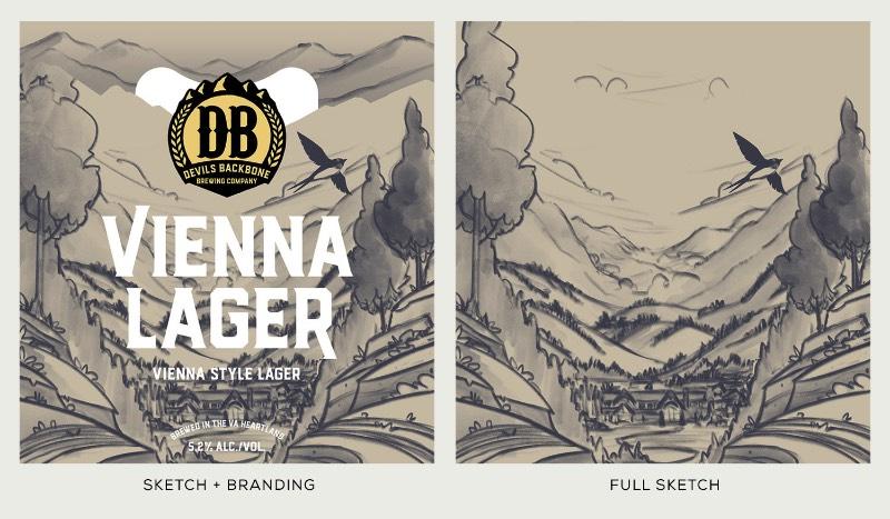 No início de 2018, Brian Miller teve o prazer de trabalhar com o pessoal da Devils Backbone Brewing Co. e Okay Yellow para fazer o rebranding de algumas embalagens de cerveja. Esse projeto envolveu uma série de ilustrações de paisagens que foram o que capturou minha atenção quando me deparei com ele no Behance.