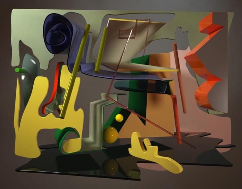 Giulia Bowinkel e Friedemann Banz são os artistas que assinam as peças que você pode ver aqui. Profissionalmente, eles são conhecidos como Banz & Bowinkel e seu trabalho artístico lida com computadores como uma forma de influenciar a sociedade onde vivem.
