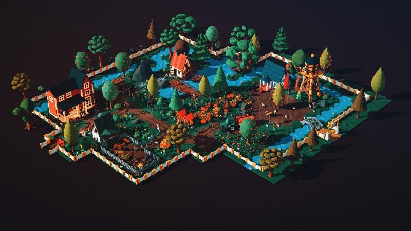 Farm Life é um projeto bem complexo criado pelos poloneses do Beffio Studio. Foram mais de 400 elementos, criados utilizado polígonos de baixa resolução para criar as belíssimas imagens que você pode ver por aqui.