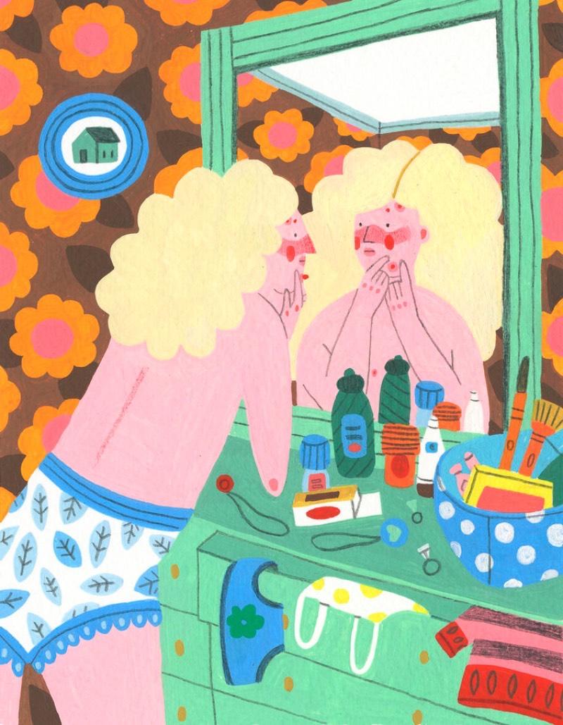 Direto da Filadélfia, vem o trabalho de ilustração de Molly Egan. Seu portfólio é repleto de mulheres divertidas e padrões cheios de cores e ela faz isso a mão em seus muitos cadernos de rascunho. E esses cadernos que são seu maior orgulho já que ela gosta muito de poder trabalhar sem a pressão de criar algo perfeito.