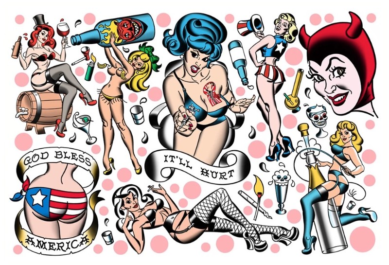 Mitch O'Connell é um ilustrador que se inspira no lado kitsch do mundo, e nas coisas engraçadinhas e cheias de curvas que existem em uma estética vintage. É isso que ele usa de referência para criar as belíssimas ilustrações que você pode ver logo abaixo.