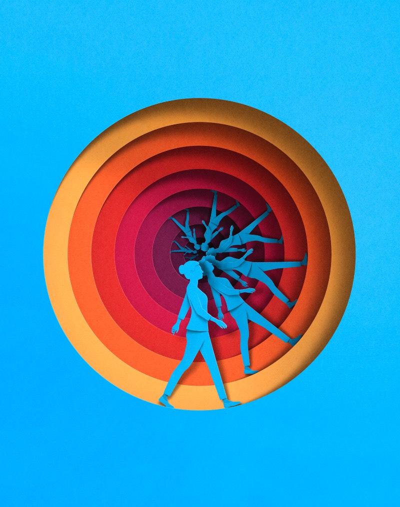 Eiko Ojala é um renomado ilustrador e designer gráfico baseado entre a Estônia e a Nova Zelândia, o que me soa como uma distância geográfica para lá de grande. Seu trabalho é construído quase que completamente de forma digital, apesar disso, seu processo de desenho é sempre feito a mão.