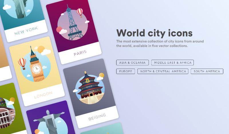 A maior coleção de ícones para as maiores Cidades do Mundo acabou de ser disponibilizada para download. Foram mais de cinco meses de trabalho que levaram a criação de cinco coleções diferentes de ícones.