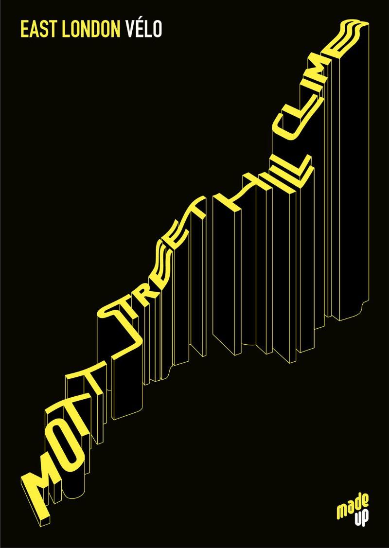 Pessoalmente, adoro quando alguém mistura ciclismo e design gráfico e foi exatamente isso que me chamou a atenção no trabalho de poster que o pessoal da Made Up publicou no Behance. Afinal, ciclismo e design são a minha fórmula da felicidade. Pelo menos em parte.