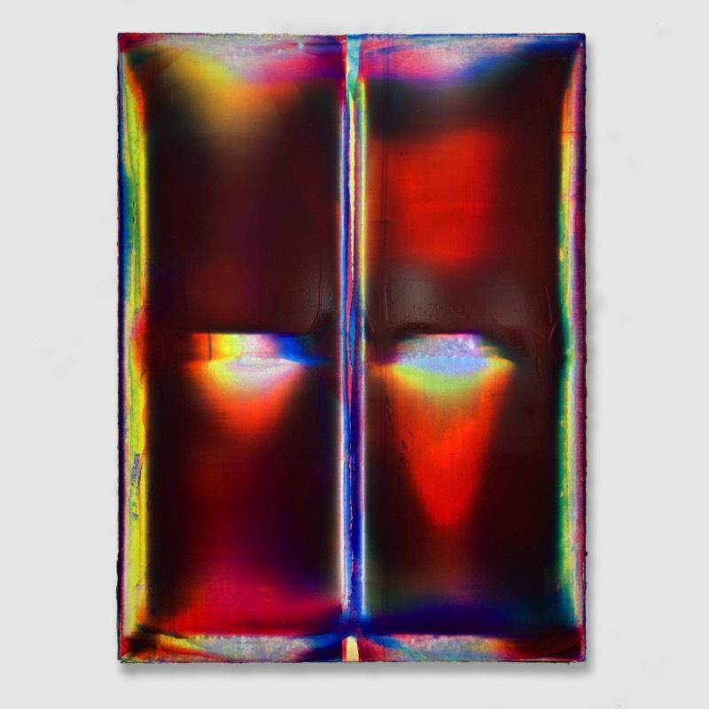 A principal ferramenta de Ryan Crotty é uma peça especial de plexiglass que ele usa como um rodo para raspar a tinta na superfície de uma tela. Quando esse rodo é pressionado contra a estrutura de suporte atrás da tela, a tinta é quase totalmente removida enquanto o centro da tela flexiona sob a pressão para aceitar graus maiores de tinta. Esse processo é repetido inúmeras vezes e com várias cores e camadas para criar um revestimento com espessura suficiente para produzir uma superfície semelhante a vidro com outras transições de cores.