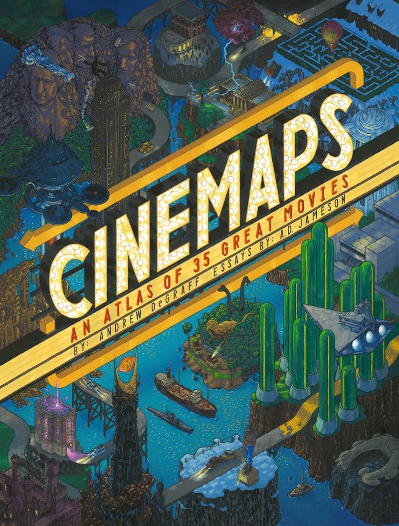 Andrew DeGraff é um artista americano que resolveu criar uma série de belíssimos mapas, pintados a mão, que mostram a história de alguns de seus filmes favoritos. Filmes como Pulp Fiction e North by Northwest, King Kong e Fargo… Onde você consegue ver as rotas que os personagens principais fazem nesses filmes em detalhes cartográficos.
