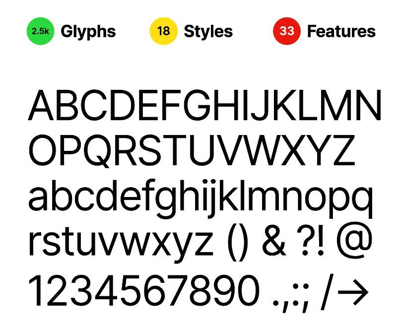 Inter é um família tipográfica cuidadosamente trabalhada e projetada para telas de computador. Algo que se torna mais do que essencial nos dias de hoje, onde passamos cada vez mais tempo lendo online do que em material impresso.