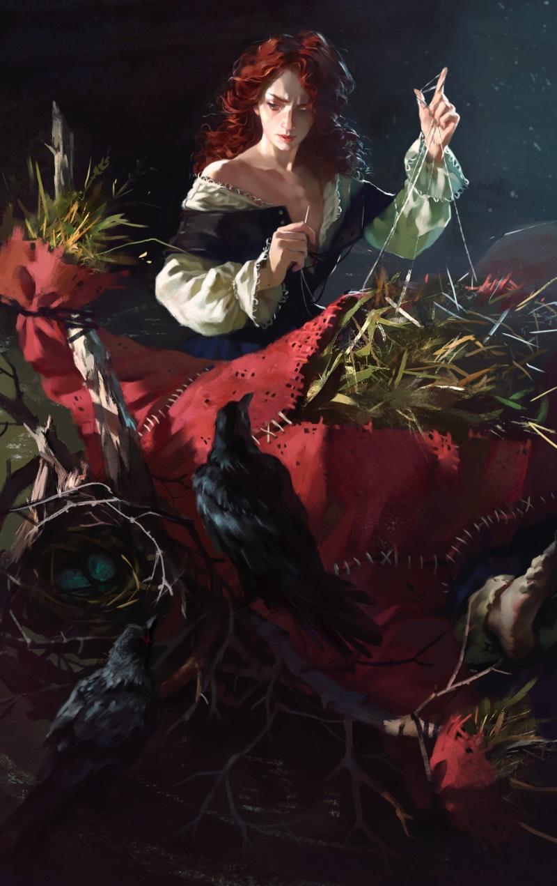 Me deparei com a arte digital de Yuliya Litvinova hoje de manhã e foi um daqueles momentos que você enxerga alguma coisa diferente e precisa parar para conferir o que que você está vendo de verdade. Foi isso que aconteceu comigo quando vi sua ilustração chamada de Little birdies, onde vemos uma espécie de cativeiro pelo ponto de vista do captor onde anjos estão aprisionados, com suas asas amarradas.