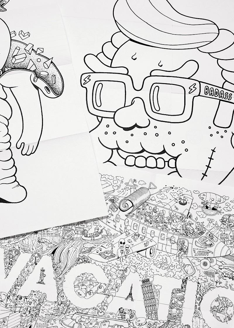 O mundo agradece ao primeiro livro de colorir dos catalães do Brosmind, minha dupla favorita de ilustradores. Esse livro vem com impressões de desenhos em ambos os lados do papel e, por isso mesmo, o livro de colorir se torna uma belíssima coleção de livretos. E, ao comprar uma cópia, você ainda ganha três posters dobráveis!