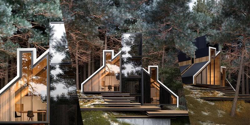 A York House é um belíssimo projeto do arquiteto russo Alex Nerovnya, Essa residência conceito foi construída perto de uma floresta e apresenta uma mistura de aço, vidro e madeira, no estilo que popularizou o trabalho do arquiteto.