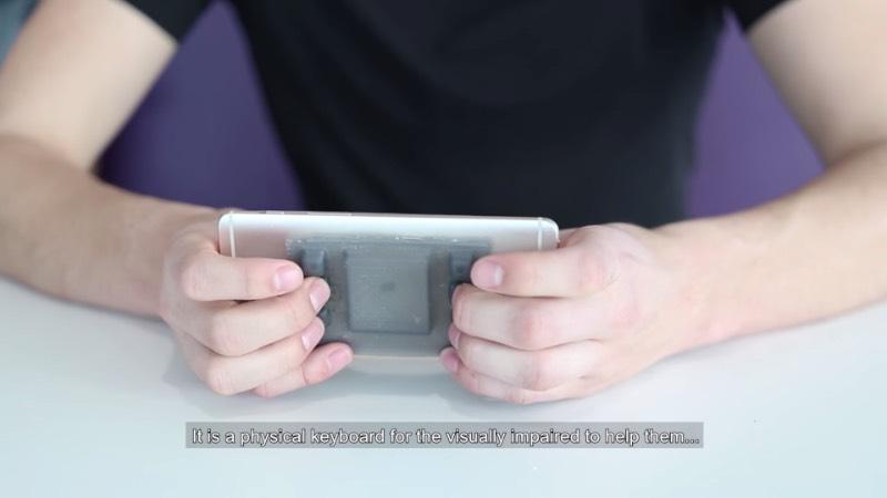 Hable One é um teclado especial que serve para ajudar deficientes visuais a escrever e enviar mensagens em braille, direto no smartphone. Esse produto foi o vencedor do Prêmio de Inovação de Philips e é algo que, tenho certeza, seria útil para milhares de pessoas ao redor do mundo.