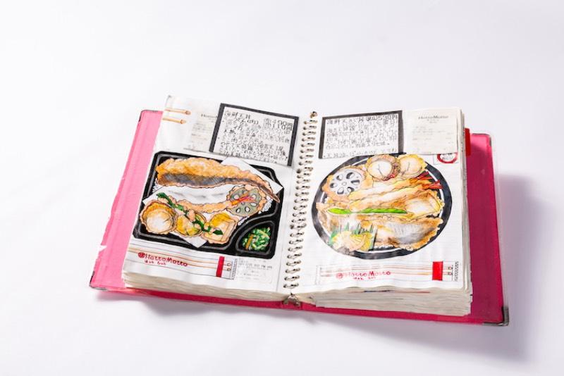 Itsuo Kobayashi nasceu em 1962 e trabalhou como cozinheiro durante muitos anos. Mas o importante aqui é seu passatempo que consiste de diários de comida onde ele desenhou a mão, 32 anos de suas refeições. Além de descrever os sabores e ingredientes, ele desenhou cada pedaço de macarrão e grão de arroz que ele comeu.