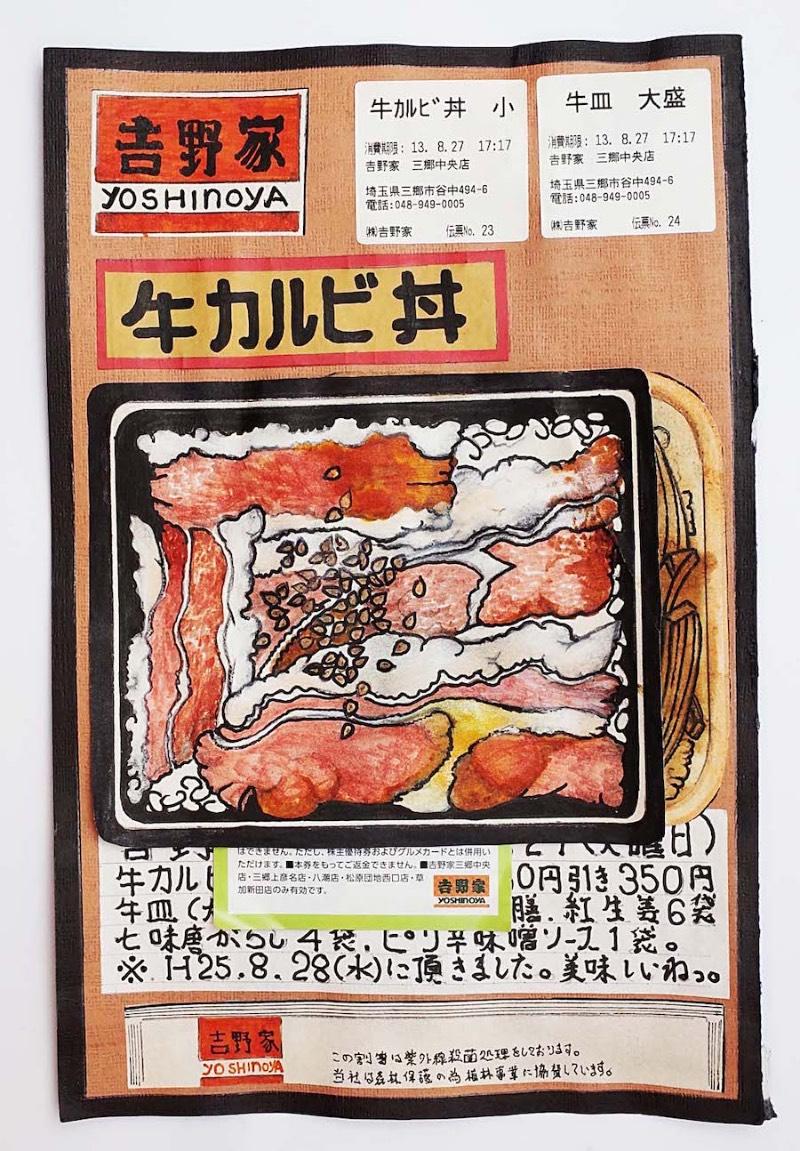 Parece que Itsuo Kobayashi não começou a fazer isso apenas quando ficou doente, como mencionei anteriormente. Ele anda escrevendo sobre suas refeições desde sua adolescência mas foi apenas no início dos seus vinte anos de idade que ele passou a desenhar seus milhares de refeições. Seu trabalho como cozinheiro ocorria em um centro de suprimentos de refeições escolares no noroeste de Tóquio.