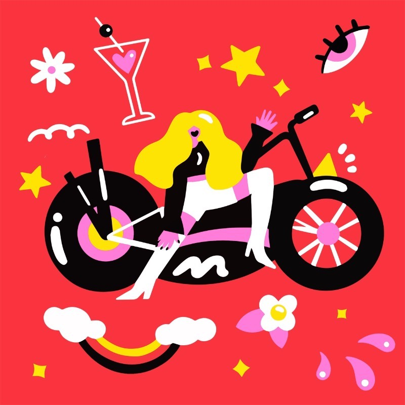 Marylou Faure é uma ilustradora francesa em Londres e seu trabalho é reconhecido facilmente pelo uso de minimalista de cores fortes e de uma tipografia manual. Seus projetos tem sempre um ângulo um pouco divertido e sempre me divirto dando uma olhada no que ela anda publicando por ai.