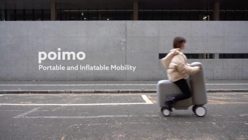 Combinando mobilidade pessoal com uma versão leve da robótica, o Poimo é algo pensando para redefinir como as pessoas se movem pelas cidades do mundo. Tudo isso através de um scooter elétrico inflável que cabe dentro de uma mochila.