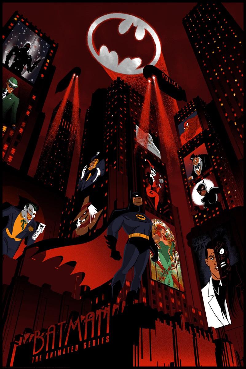 A série animada do Batman é o apogeu dos desenhos animados de super heróis dos anos 90 e posso assumir que assisti todos os episódios possíveis. O artista Chris Thornley também é fã dos desenhos e acabou criando uma série de ilustrações inspiradas nos personagens.