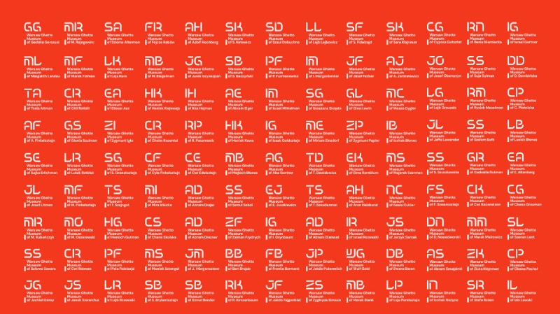 Para se trabalhar com a identidade visual do Museu do Gueto de Varsóvia é preciso pensar sobre a função da memória e como representar todos aqueles que viveram por esse que foi um dos momentos mais dramáticos da história da Segunda Guerra Mundial. Por culpa disso tudo, a abordagem do pessoal da DADADA Studio foi um pouco diferente e até questionou um pouco da estrutura do design gráfico.