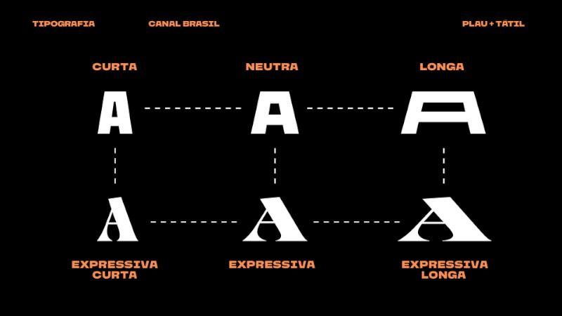 A nova identidade visual do Canal Brasil procura materializar a riqueza da cultura e história do país através de uma tipografia que apresente o valor do cinema, design e a arte. Tudo isso através de uma tipografia em movimento que represente a diversidade local.