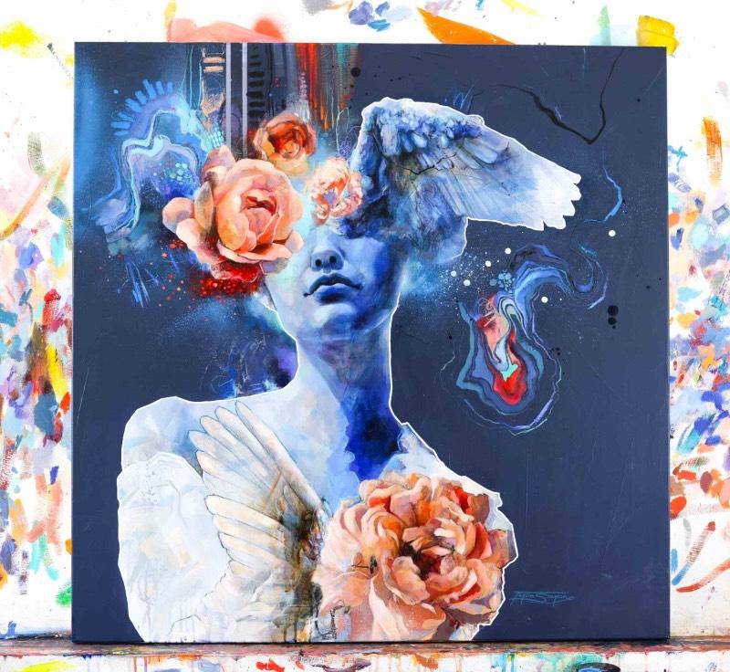 Tahlia Stanton é uma artista australiana cujo trabalho pode ser descrito como arte pop expressionista, se é que esse estilo visual existe de verdade por aí. Ela costuma explorar temas de autenticidade, liberdade e de auto-realização através de suas pinturas e você pode ver isso com mais atenção logo abaixo.