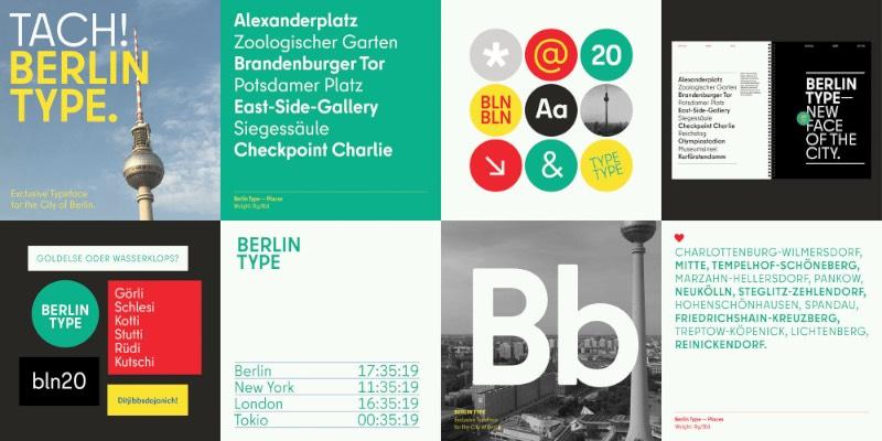 Quando Berlim recebeu uma nova identidade visual corporativa, criação da Jung von Matt, o pessoal da HvD Fonts ficou responsável pelo trabalho tipográfico e foi assim que uma nova tipografia para Berlim se tornou realidade. Esse deve ser um desafio complicado para todo a categoria de designer já que esse projeto precisa representar o presente e o passado da cidade, enquanto represente o talento e a diversidade do local.
